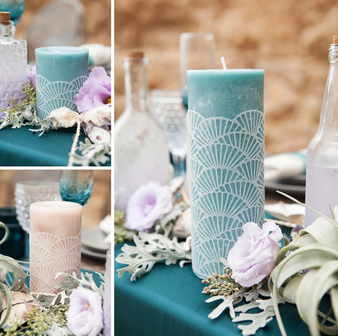 DIY scalloped candle wraps cut with the Cricut Explore!