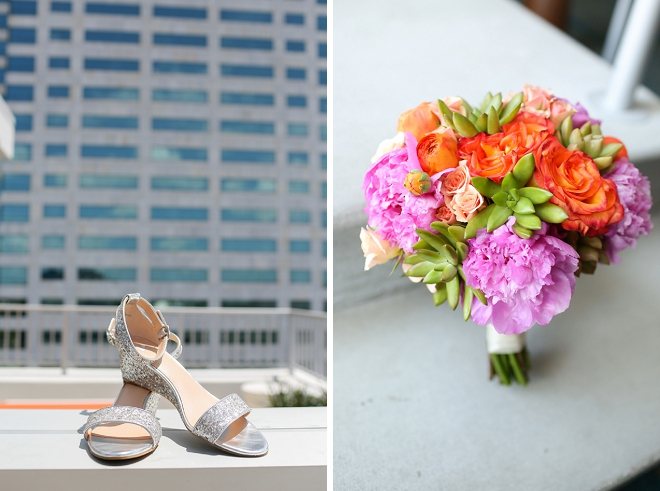 How gorgeous is this Bride's fab bouquet and shoes?! Love!