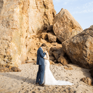 We're in LOVE with this gorgeous styled beachy chic wedding shoot!