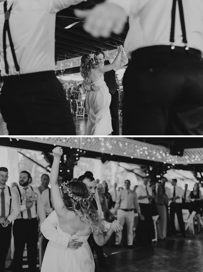 Swooning over this couple's fun first dance and reception!