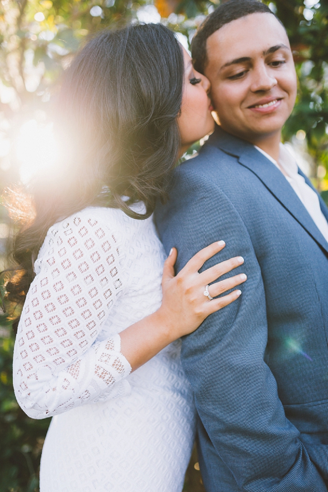 We're in love with this stunning estate engagement session and gorgeous couple!