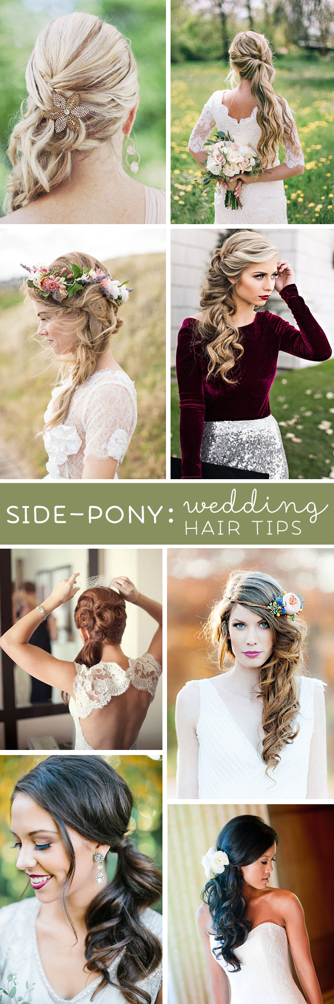 These Are The Absolute BEST Wedding Hair Tips For Wearing A Side Ponytail Style