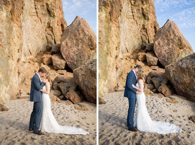 We're swooning over this gorgeous styled Malibu beach wedding!