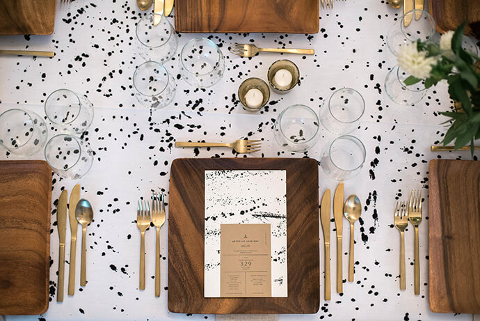 This gold flatware would be perfect for a wedding!