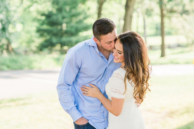 We're swooning over this uber romantic engagement session!