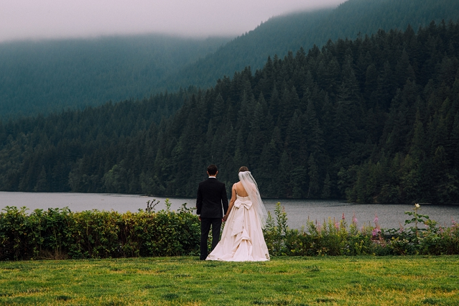 We're swooning over this gorgeous Mr. and Mrs. and their stunning first look!