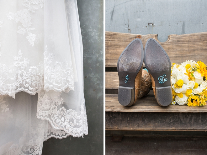 We're in love with this rustic Bride's details for the big day!