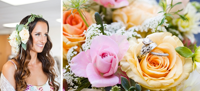 In LOVE with this gorgeous colorful bouquet ring shot!