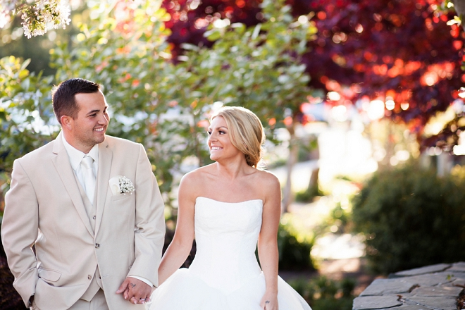 We love this darling couple and their classic wedding day style!