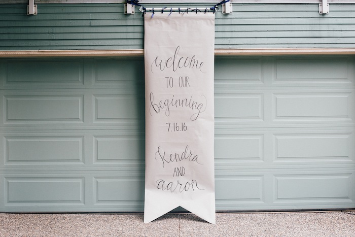 This handmade welcome wedding guest sigh, tho.