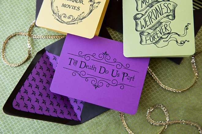 Check out this free printable Till Death Do Us Part card!
