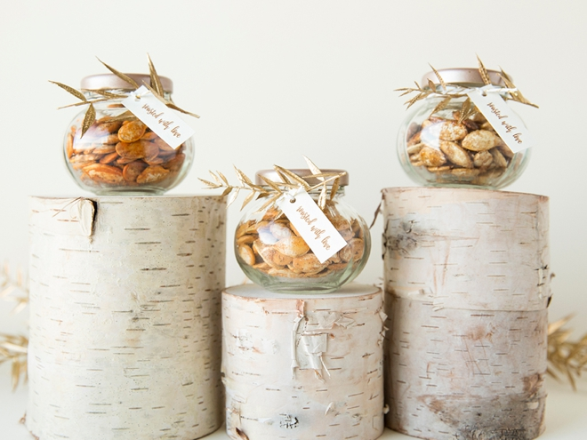 Learn how to roast and package your own pumpkin seeds, perfect for a fall wedding!
