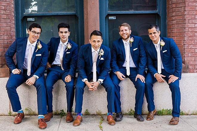 Great shot of the Groom and his Groomsmen ready for the big day!