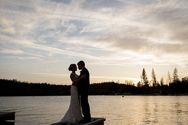 We love this couple's stunning lakeside wedding at Bass Lake!