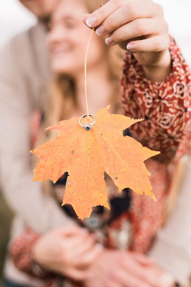 Gorgeous fall engagement snap from Juicebeats Photography