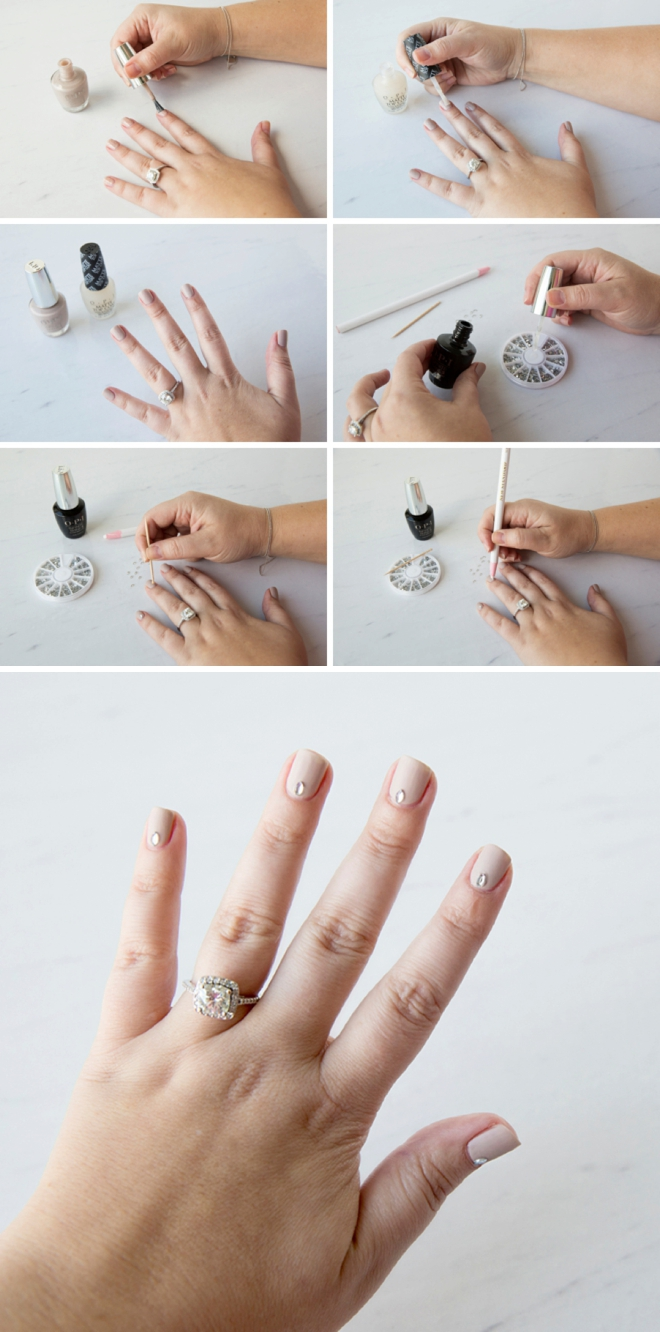 Learn how to use matte top coat for your bridal manicure!