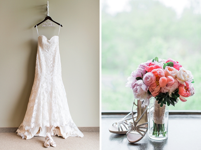 We're in LOVE with all of this Bride's stunning wedding day details!