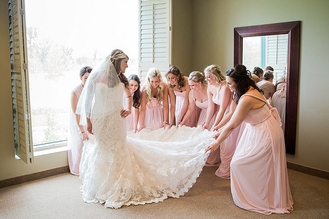 We love this photo of the Bride and her bridesmaids before the ceremony!