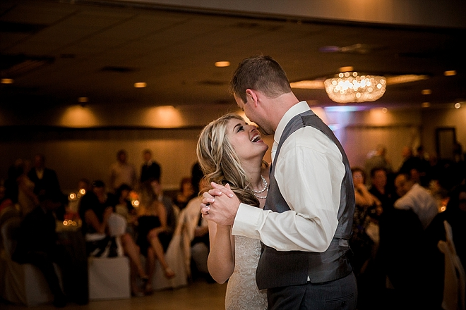 Such a darling photo of the Mr. and Mrs. first dance!