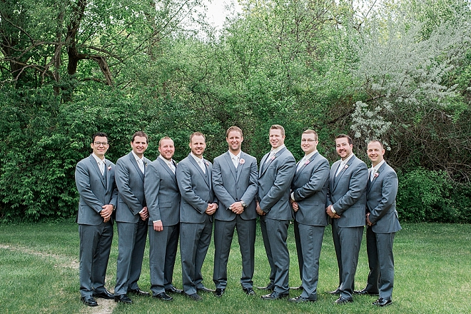 We love this sweet snap of the Groom and his Groomsmen before the ceremony!