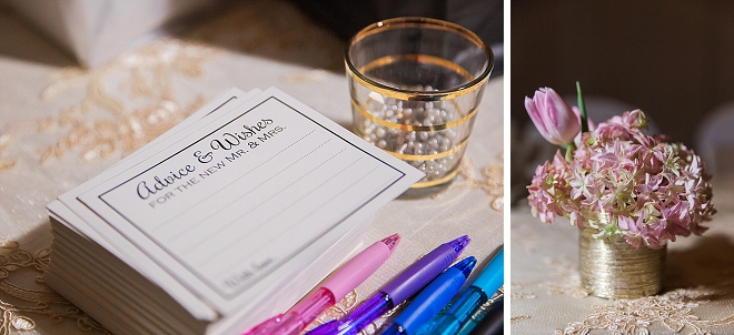 We love these couple's advice cards at their darling reception!