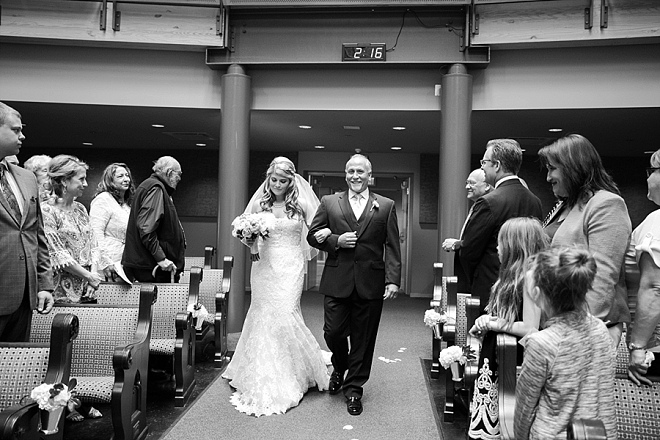 We're crushing on this couple's super sweet church ceremony!