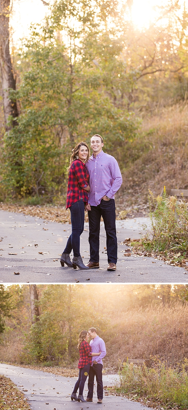 We're swooning over this super romantic engagement session!