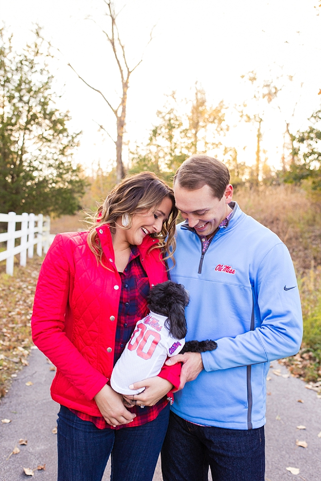 How darling is this engagement shoot and pup?! LOVE!