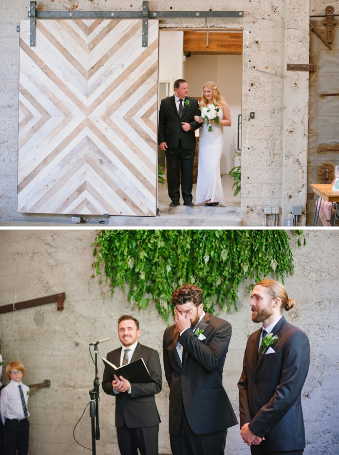 Swooning over this couple's super sweet ceremony!