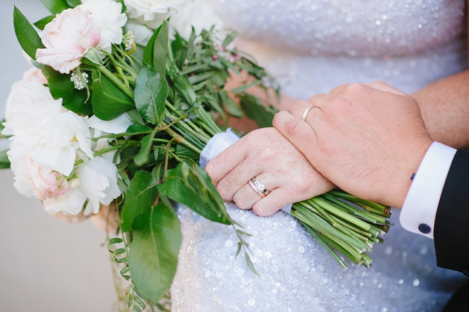 We love this snap of the Mr. and Mrs. and their ring shot!