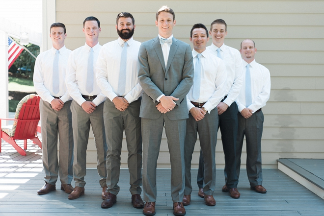 Great snap of the Groom and his Groomsmen before the wedding ceremony!
