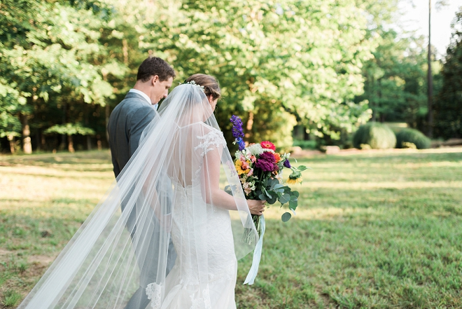 We are in love with this romantic and whimsical wedding!