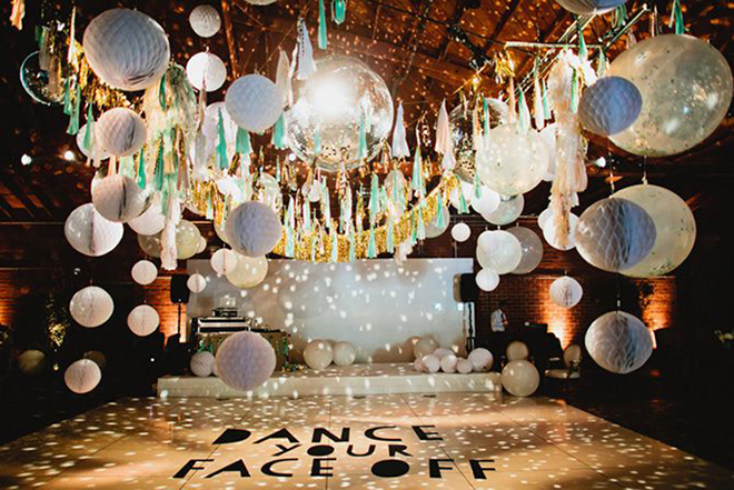 Disco Ball Decorations Cool 15 Fabulous & Unique Wedding Dance Floor Ideas Inspiration