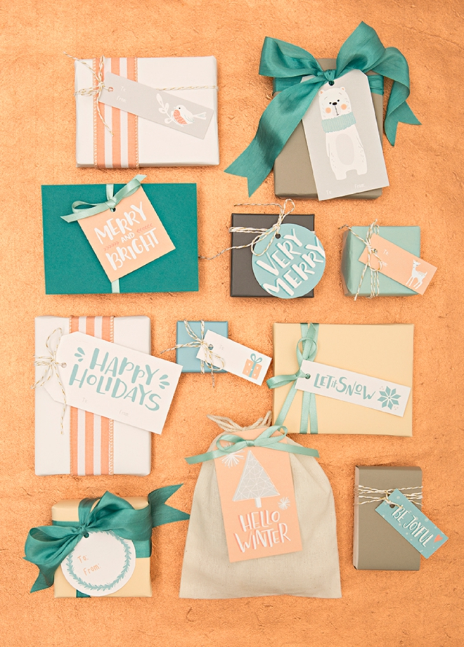 Download and print these darling holiday gift tags for free!