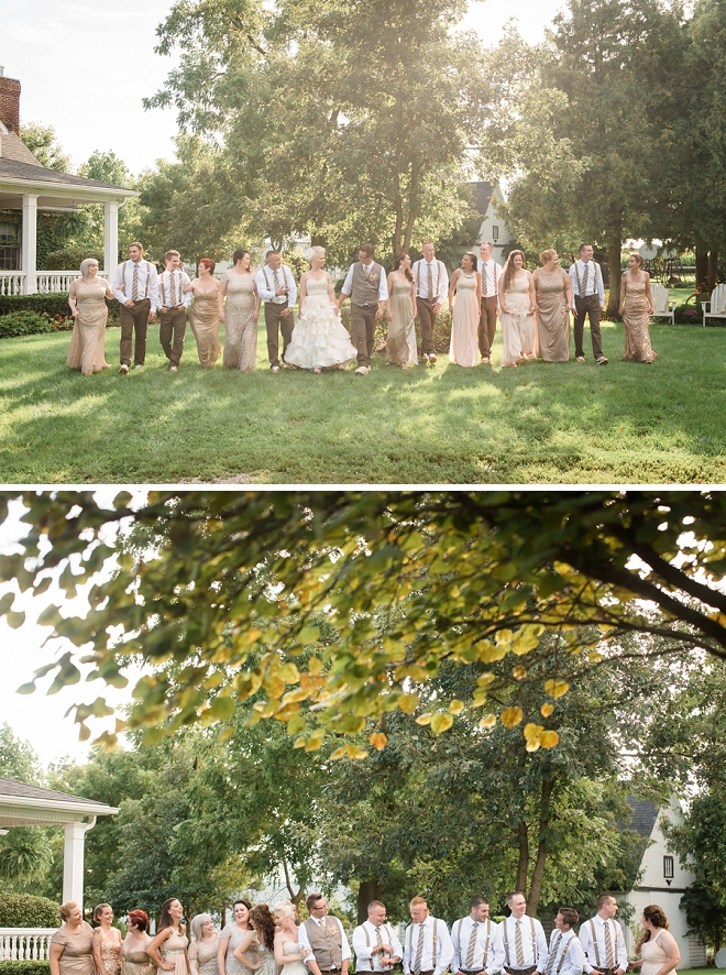We love this couple and their gorgeous wedding party!