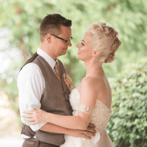 We LOVE this couple's unique style and stunning wedding!