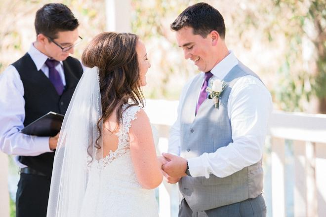 We love this stunning outdoor wedding ceremony!