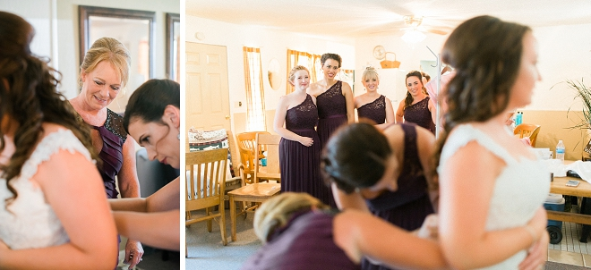 We love everyone's reaction of the Bride in her wedding dress!