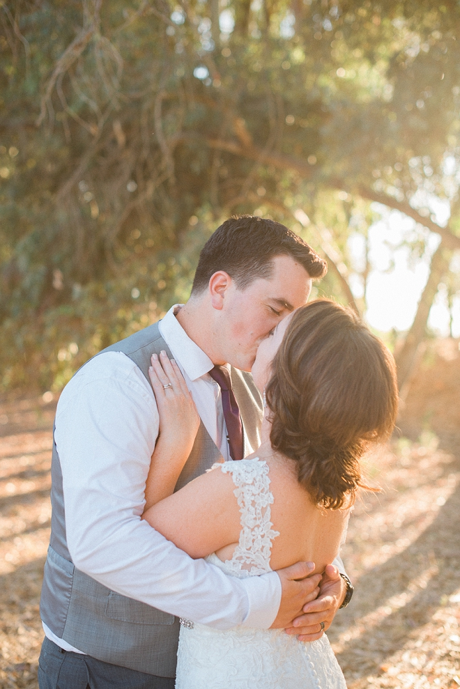 We're in love with this couple's stunning outdoor wedding and handmade details!