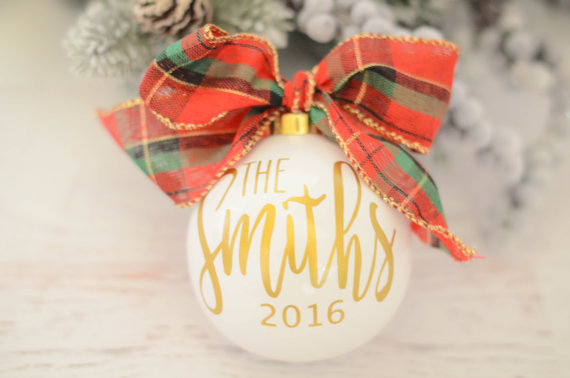 We LOVE this super cute personalized Christmas Ornament!