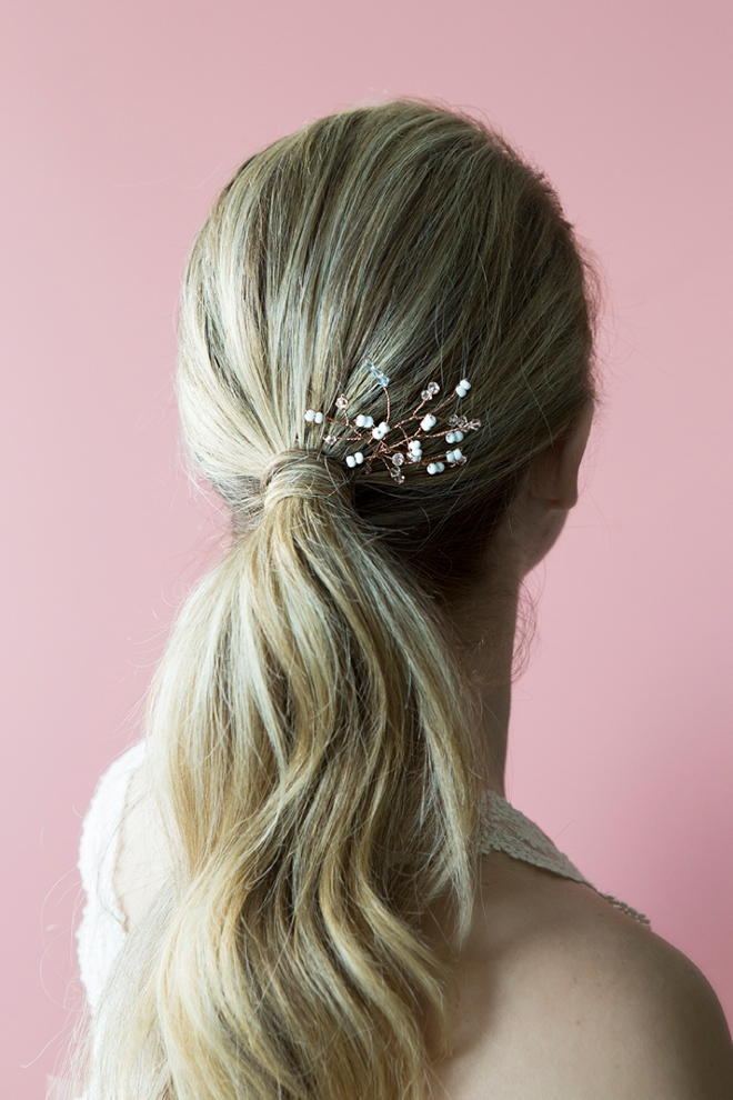 learn how to make this stunning vine style bridal hair pin it s easier than