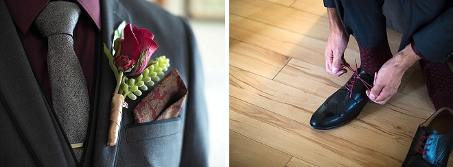 We love this Groom's wedding day details!