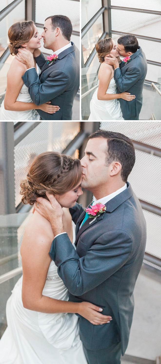 Swooning over this super sweet first look before the ceremony!