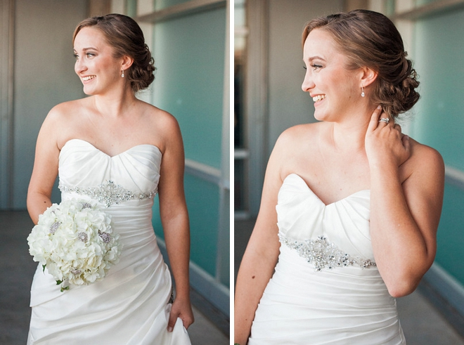 The beautiful Bride getting ready for her first look!