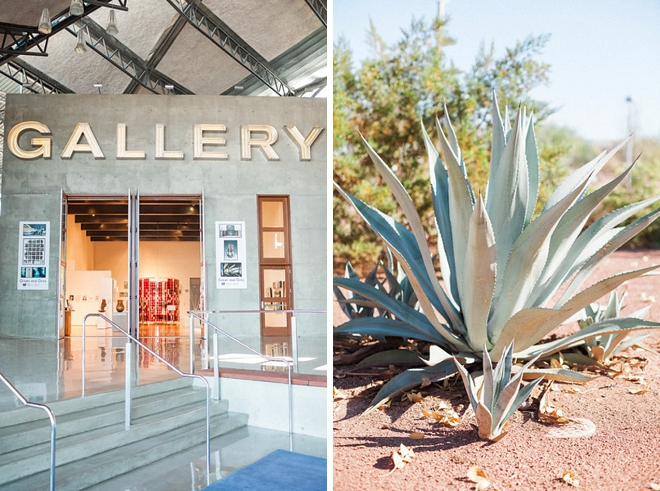 How stunning is this Tempe art gallery wedding?! LOVE!