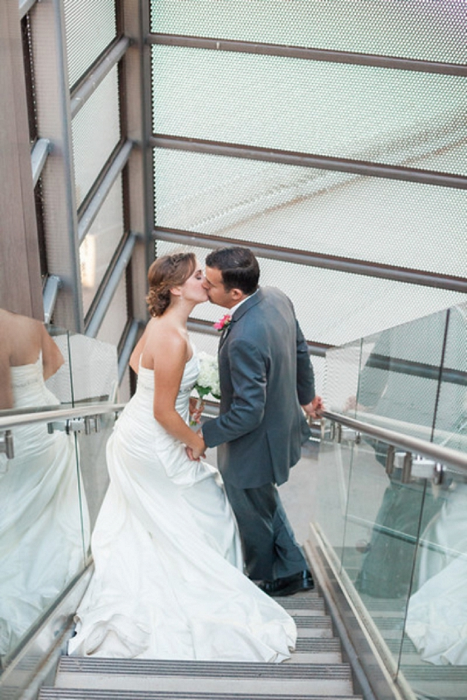 We can't get over this super in love couple and their stunning gallery wedding!
