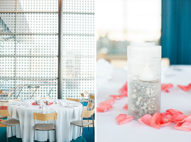 Such bright and colorful handmade decor at this gallery reception!
