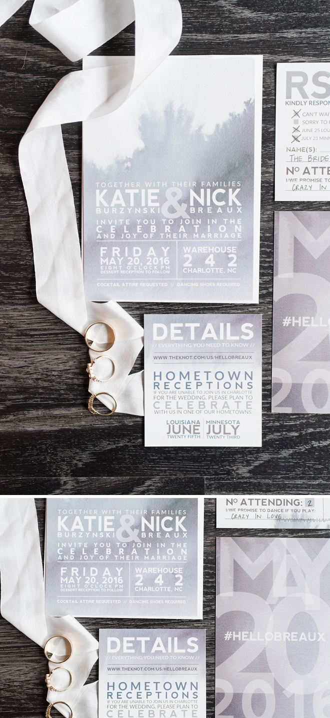 How stunning is this invitation set handmade by the Bride!? LOVE!