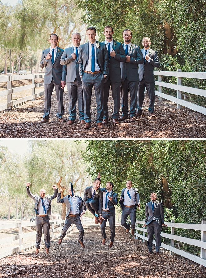 We love this snap of the handsome Groom and his Groomsmen before the ceremony!