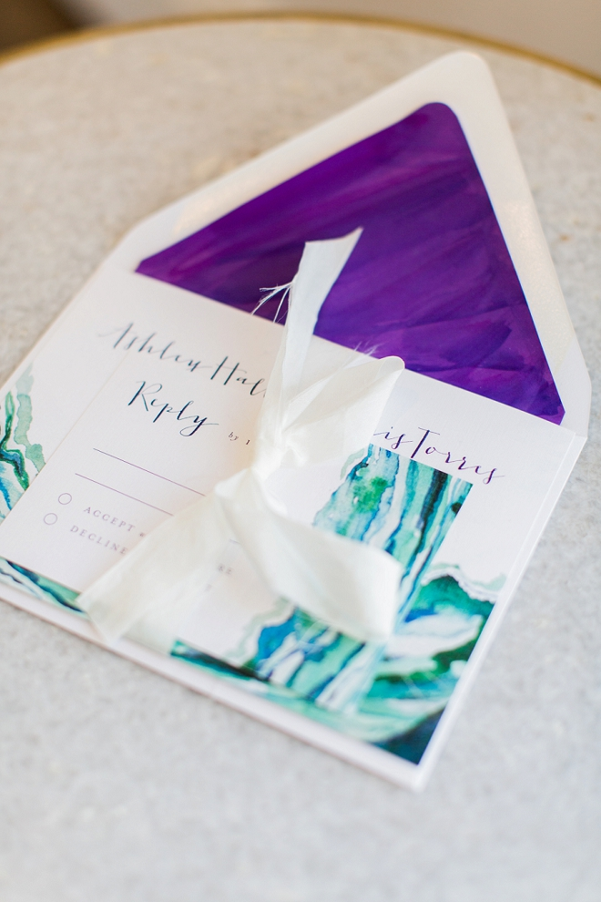 We love these stunning jewel toned invitations!!
